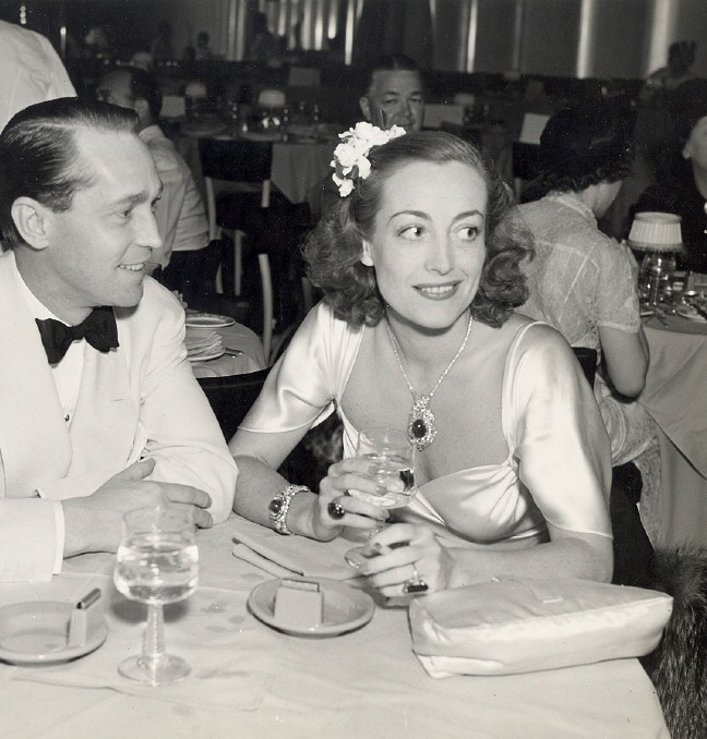 1937. With Franchot Tone at the Trocadero.