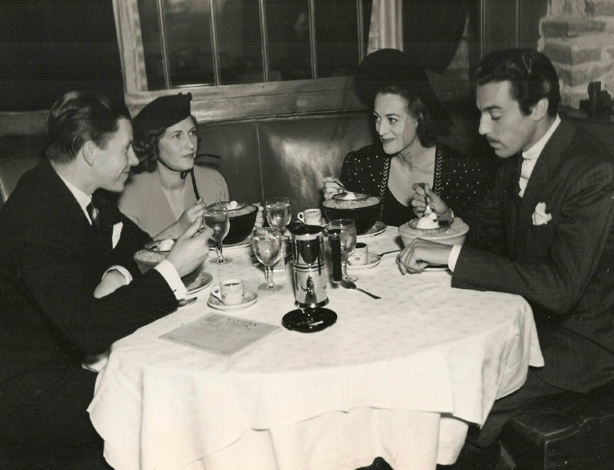 1938 at Cafe LaMaze. With Mr. and Mrs. George Murphy and Cesar Romero.