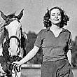 2/7/38. Joan and polo pony.