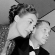 1938. With husband Franchot Tone.