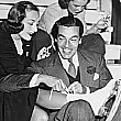 October 1938, on the set of 'Ice Follies' with Cesar Romero. (Yes, this should be on the 1938 page. But since 'Follies' came out in '39, I put all 'Follies' pics here.)