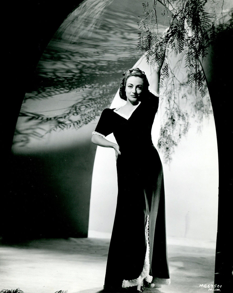 1938. Publicity with gown by Adrian.