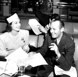 1939. Screen Guild Theater. Joan with Jack Benny.