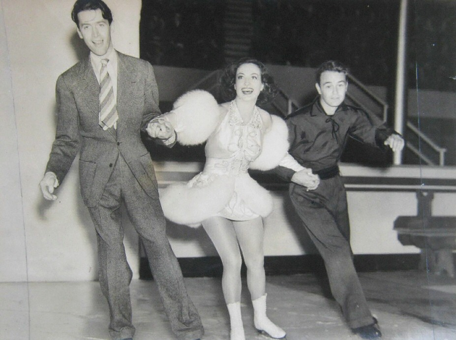 'Ice Follies of 1939.' With James Stewart, left, and Lew Ayres.