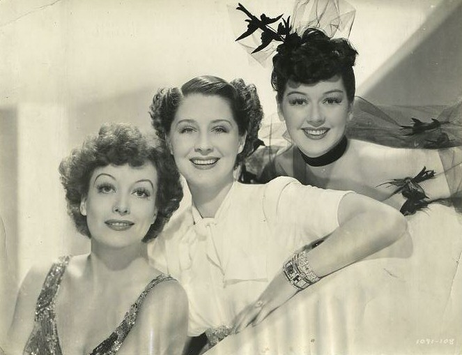 1939. 'The Women.' With Norma Shearer and Rosalind Russell.