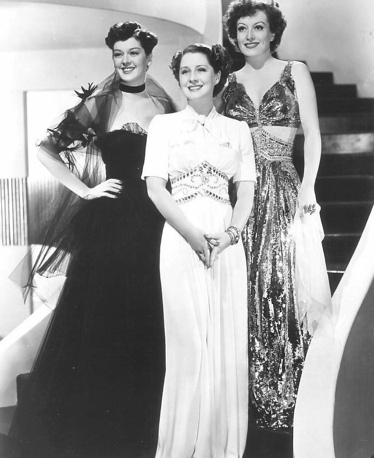 1939. Publicity for 'The Women' with Rosalind Russell and Norma Shearer.
