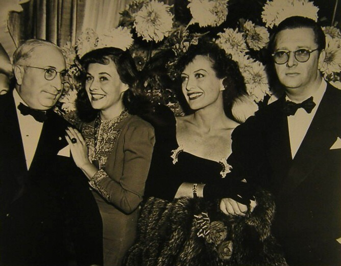 1939. The premiere of 'The Women' with LB Mayer, Paulette Goddard, Hunt Stromberg.
