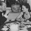 January 1940 at NYC's The Colony restaurant with ex-husband Franchot Tone.