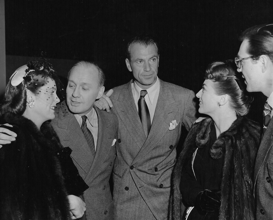 1943. With Rocky Cooper, Jack Benny, Gary Cooper, and Phil Terry.