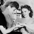 1941. At Judy Garland's bridal shower, admiring ring from David Rose.