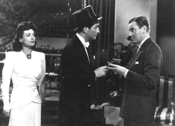 With Robert Taylor and Herbert Marshall.