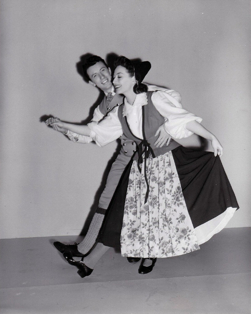 1941. Publicity for 'A Woman's Face.' Doing 'The Weaving Dance' with David Tihmar.