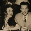 1942. With husband Phillip Terry at LA's Cock'n Bull.