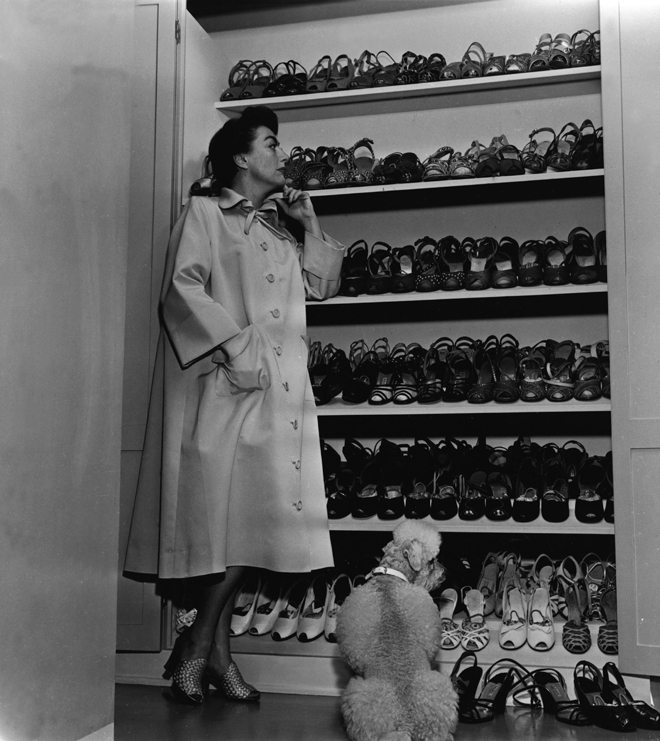 Joan and shoes, circa 1950.