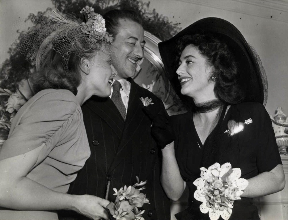 1942. With newlyweds Tamara Geva and John Emery.
