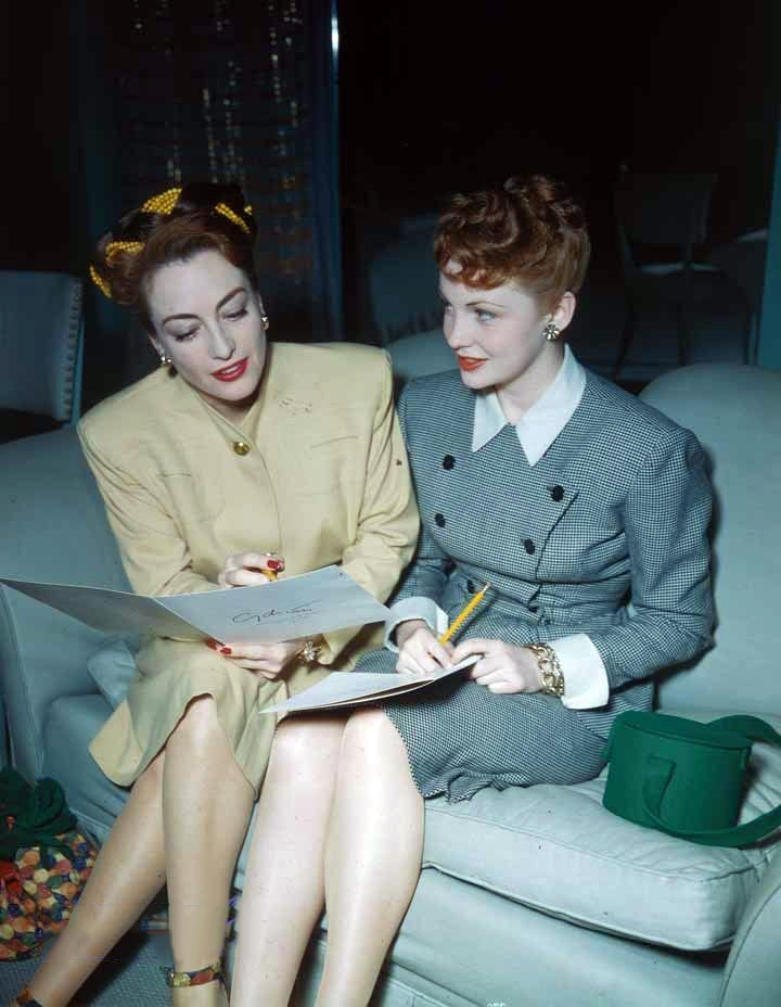 1944. With Joan Leslie.