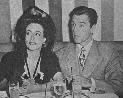 1942. Joan with husband Phillip Terry.