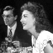 Circa 1945. With husband Philip Terry at the '21' club in NYC.