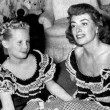 Summer of 1947, with daughter Christina.
