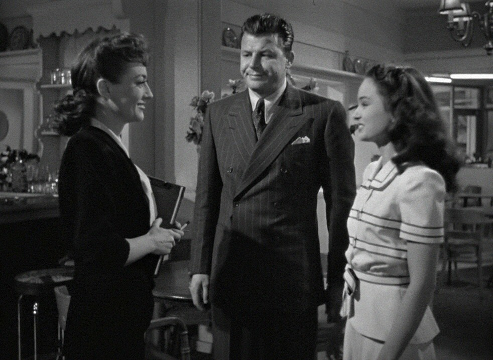 1945. 'Mildred Pierce.' With Jack Carson and Ann Blyth.