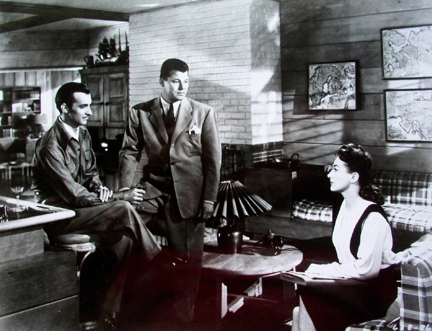 Film still from 'Mildred Pierce' with Zachary Scott and Jack Carson.
