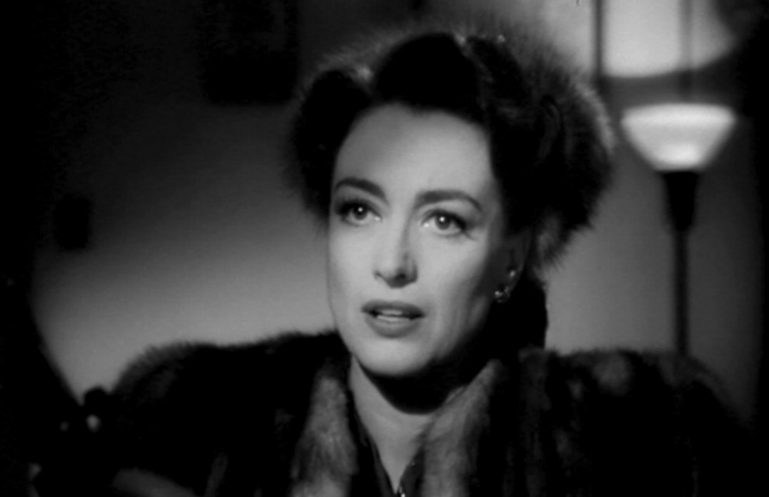 1945. A screen shot from 'Mildred Pierce.'