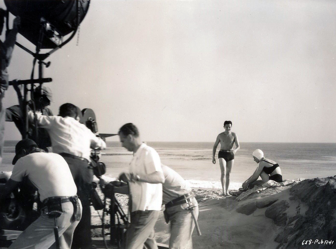 1946. On the set of 'Humoresque.'