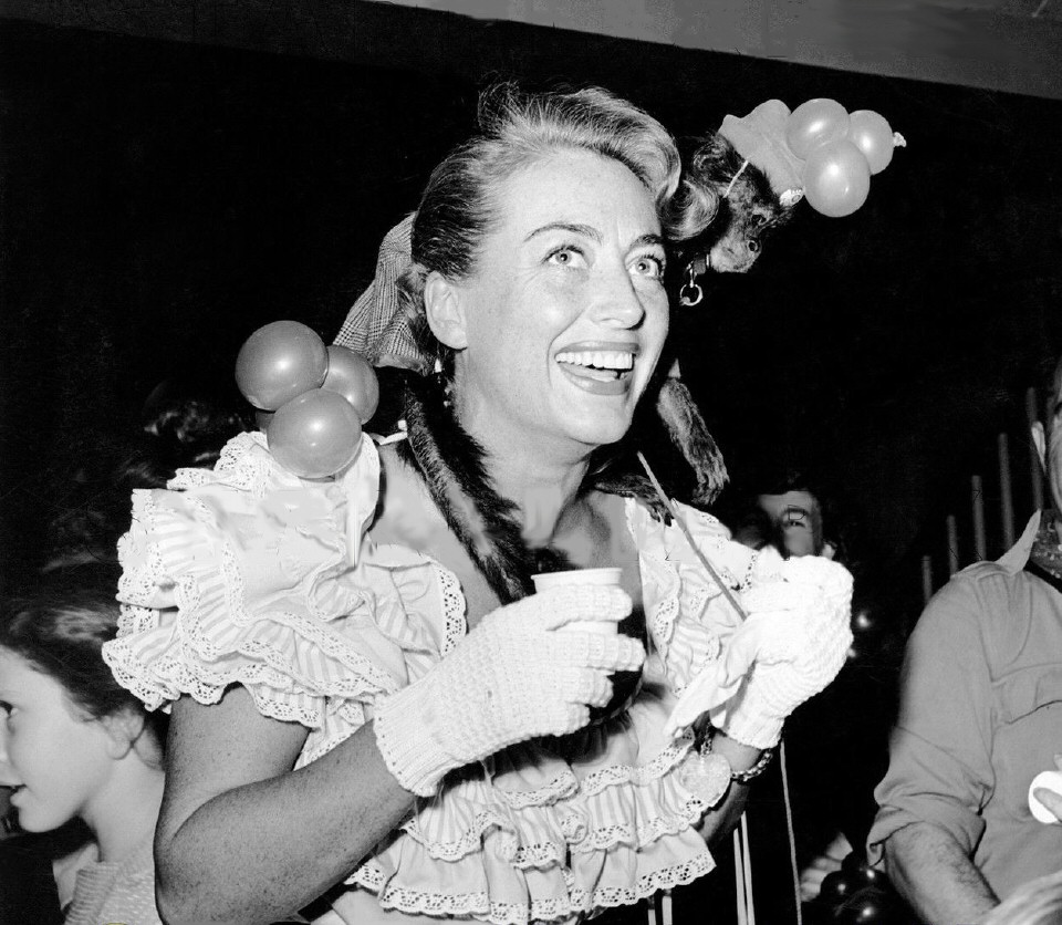December 1947 at a Beverly Hills toy store opening.