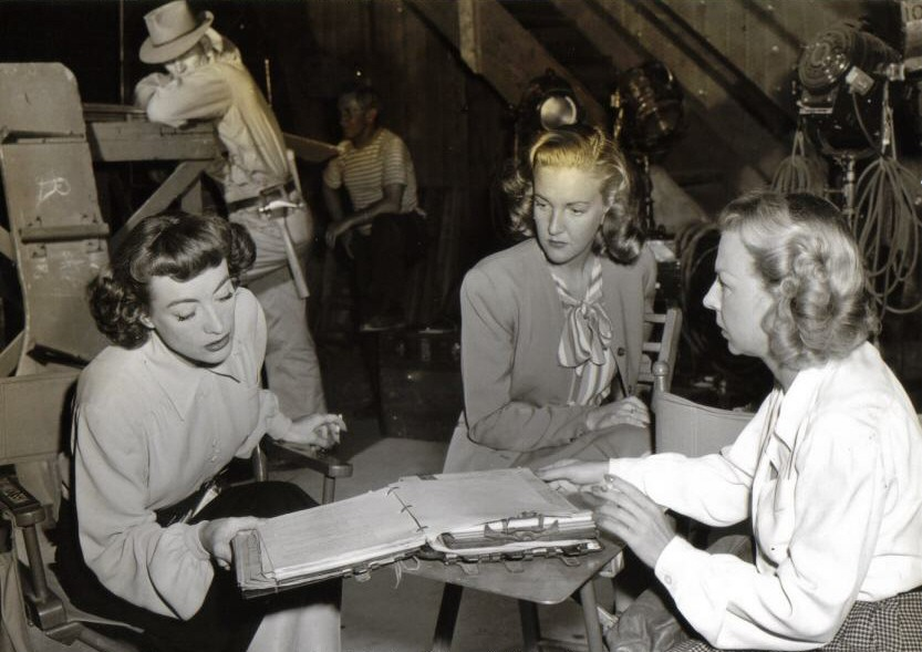 1947 on the set of 'Possessed.'