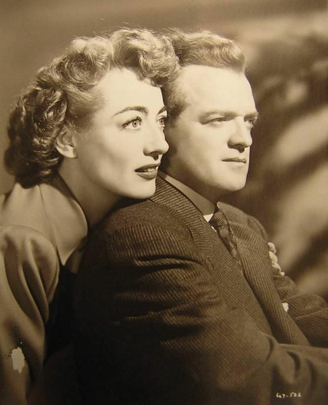 1947. Publicity for 'Possessed' with Van Heflin.