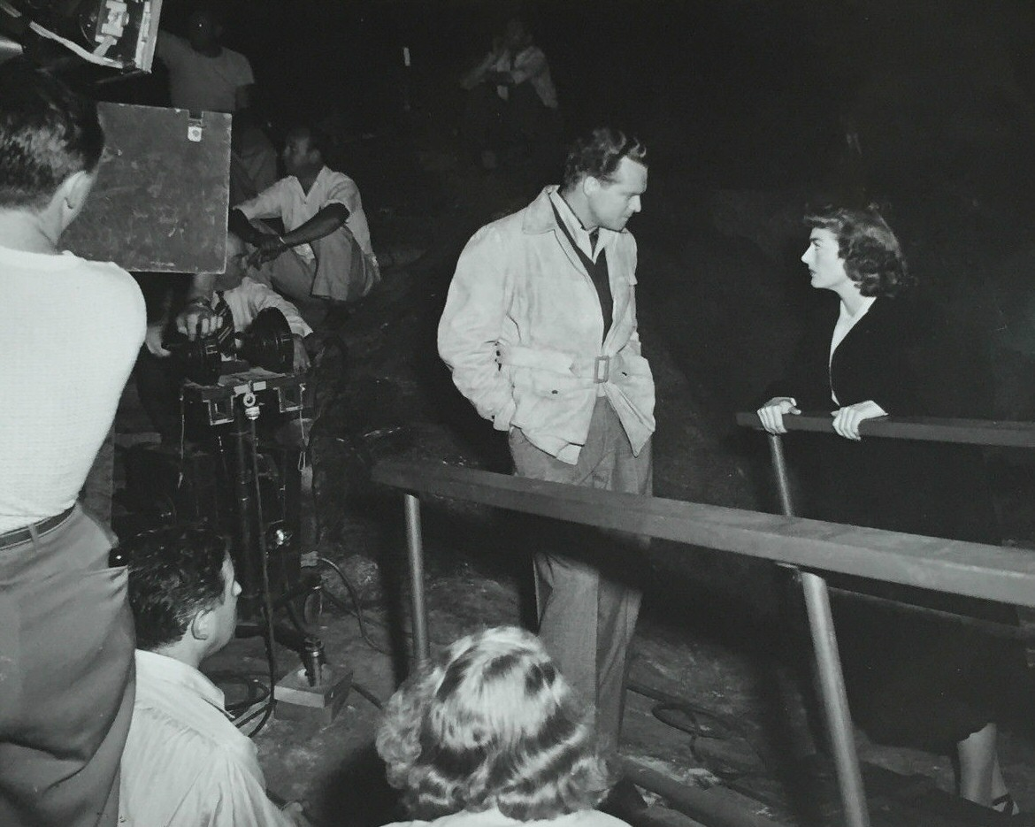 1947. On the set of 'Possessed' with Van Heflin.