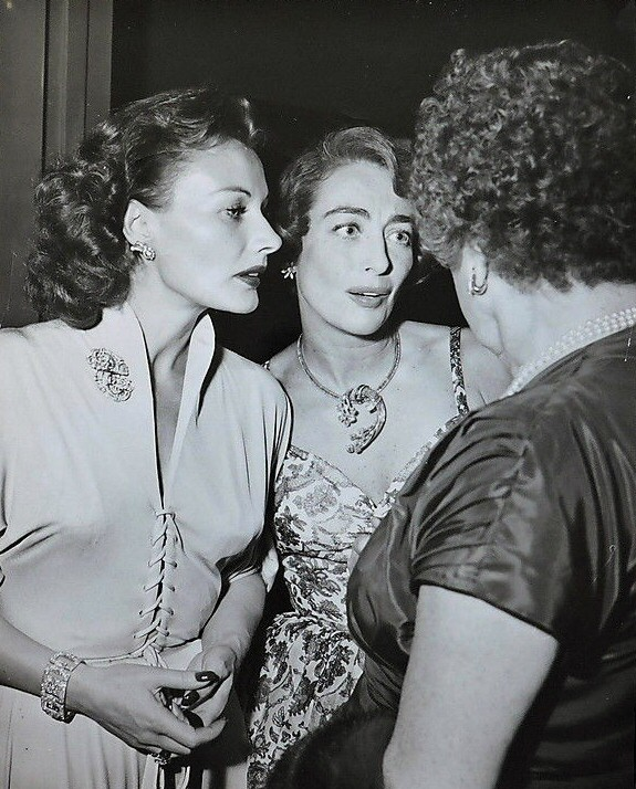 August 1949. With Florence Marly, left, and Constance Collier.