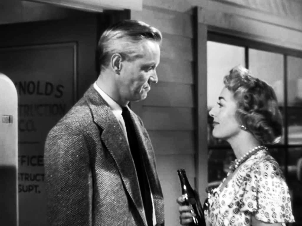 1949. A screen shot from 'Flamingo Road' with David Brian.