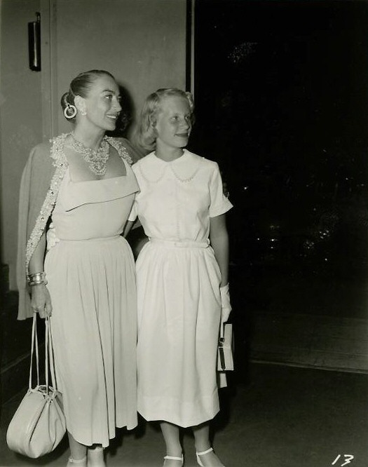 Circa 1950. With Christina at a party hosted by Clifton Webb.