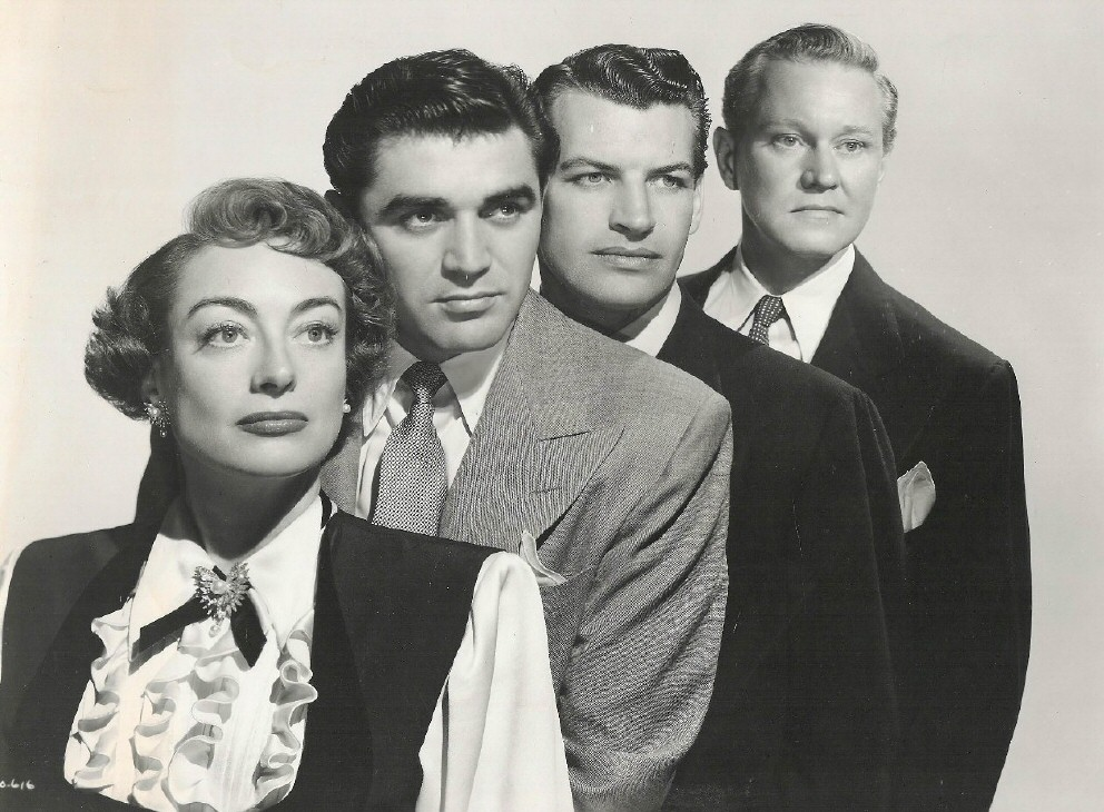 1950. The cast of 'The Damned Don't Cry.'