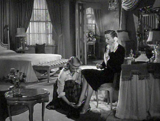 1950. 'Harriet Craig' screen shot with K. T. Stevens.