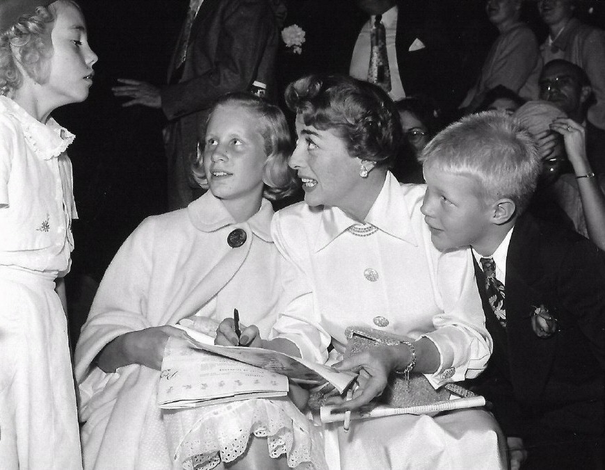 1950. With Christina and Christopher at the 'Ice Follies' show.