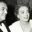 November 1950. With director Vince Sherman at the 'All About Eve' premiere.