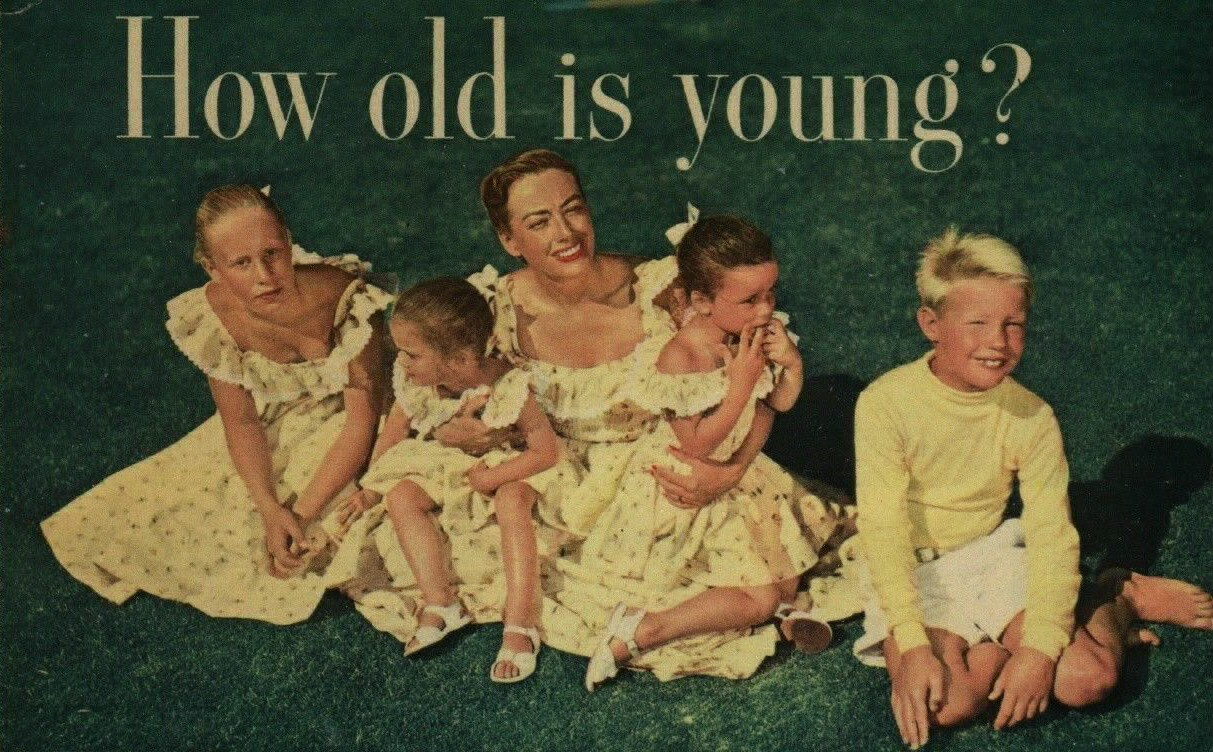 1950. With kids, from unknown magazine.