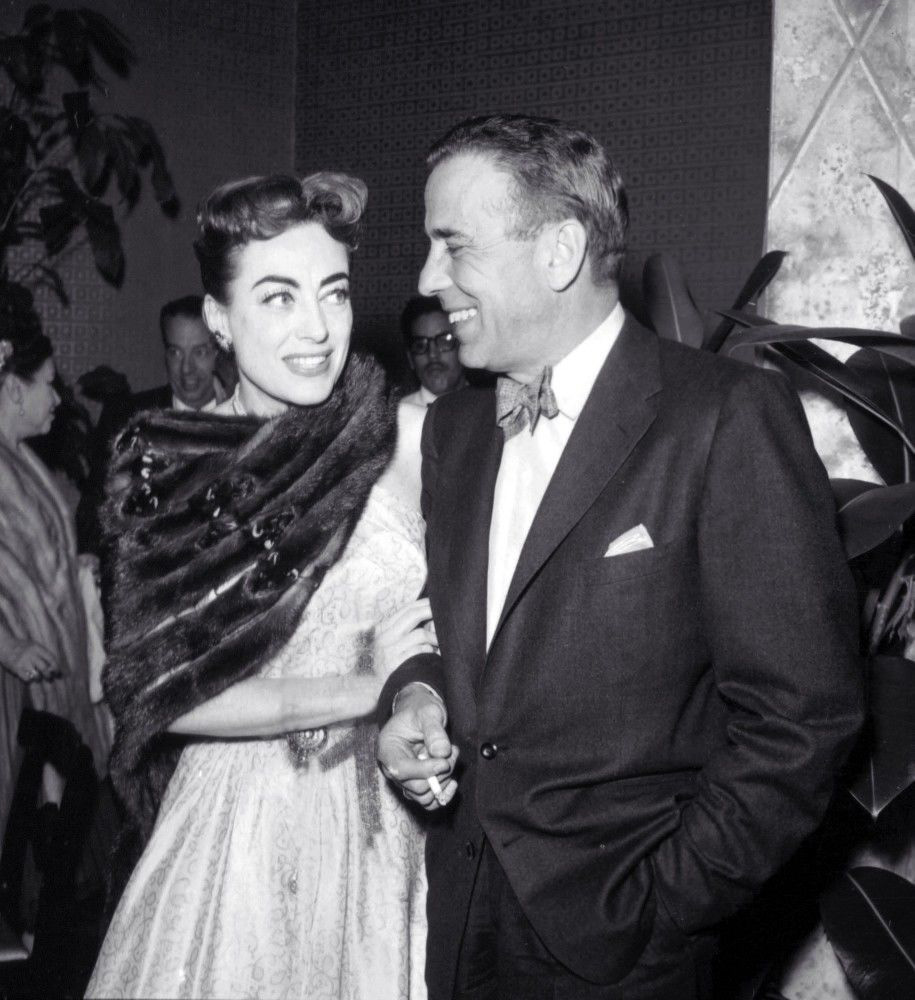 At the 1955 Academy Awards party with Humphrey Bogart.