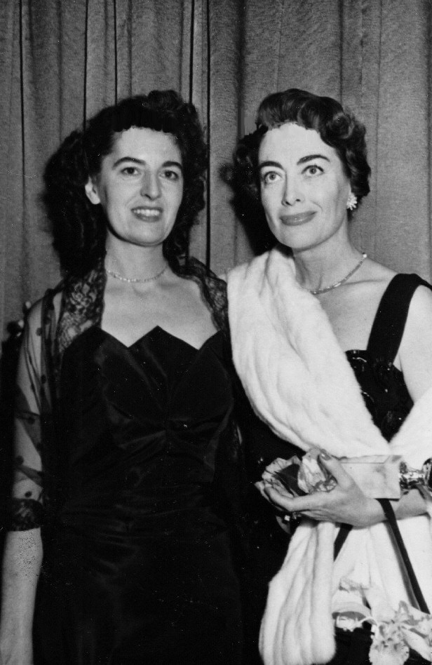 March 1953. With unknown at a Hollywood awards dinner.