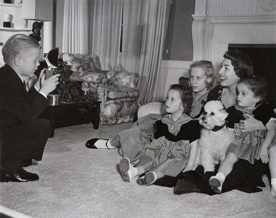 Circa 1950. With the kids.