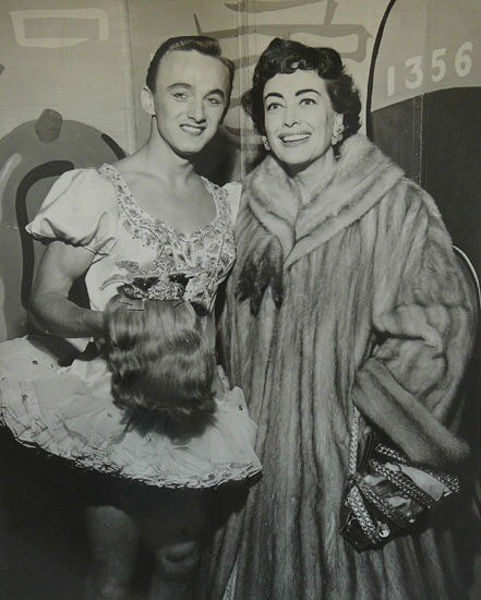 1953, with dancer.