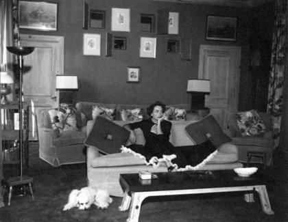 1950, in her home-theater room. Shot by Jack Woods.