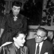 1954. Waiting to speak to Judy Garland.
