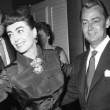 1954. Two candids at same event. With Clifton Webb and Vincent Price. And with Alan Ladd and Van Heflin.