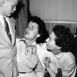 On the set of JG with son Christopher and Mercedes McCambridge.