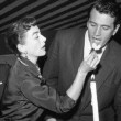 1954. Three candids with Rock Hudson.