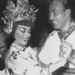 Circa 1954, as Anna May Wong, with Cesar Romero. At the Press Photographers' Ball.