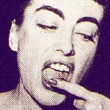October 1954. Two candids at the premiere of 'Phffft!'